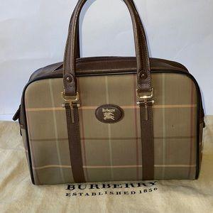 Authentic Burberry's of London nova Boston satchel